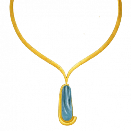 Burle Marx Aquamarine necklace