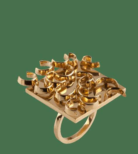 Pol Bury gold ring