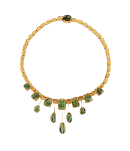 Burle Marx green tourmaline necklace
