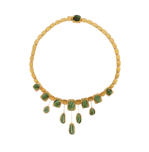 Burle Marx green tourmaline necklace