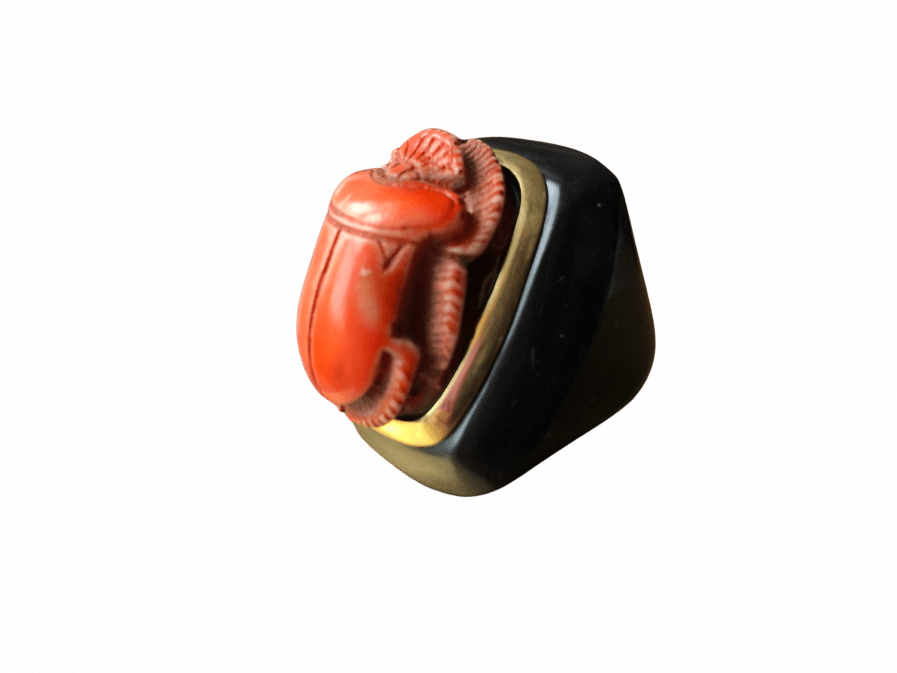 egyptian scarab ring