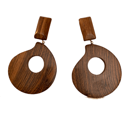 precious wood earrings