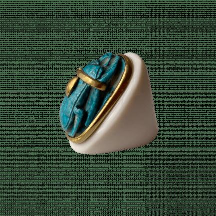 egyptian turquoise scarab