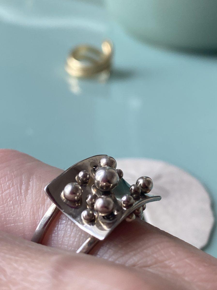 pol bury silver ring